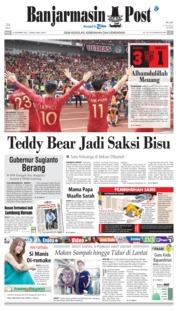 Cover Banjarmasin Post 14 November 2018