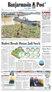 Cover Banjarmasin Post 15 Desember 2018
