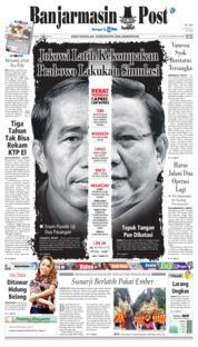 Banjarmasin Post Cover 17 January 2019