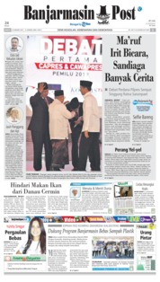 Cover Banjarmasin Post 18 Januari 2019