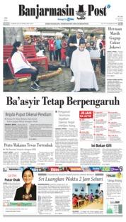 Cover Banjarmasin Post 20 Januari 2019