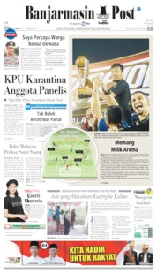 Cover Banjarmasin Post 13 April 2019