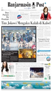 Cover Banjarmasin Post 20 April 2019