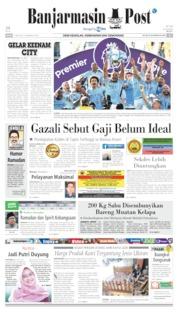 Banjarmasin Post Cover 13 May 2019