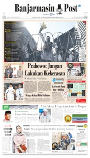 Cover Banjarmasin Post 23 Mei 2019