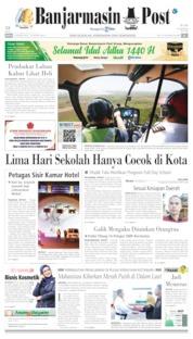 Cover Banjarmasin Post 10 Agustus 2019