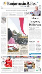 Banjarmasin Post Cover 13 August 2019