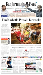 Banjarmasin Post Cover 22 September 2019