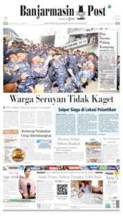 Banjarmasin Post Cover 16 October 2019