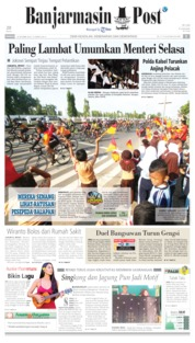 Cover Banjarmasin Post 20 Oktober 2019