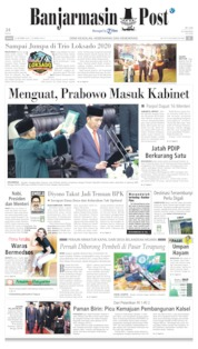 Cover Banjarmasin Post 21 Oktober 2019