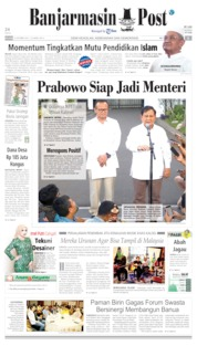 Cover Banjarmasin Post 22 Oktober 2019