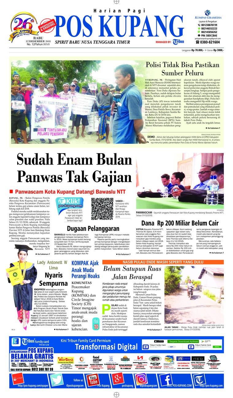 Pos Kupang Digital Newspaper 12 December 2018