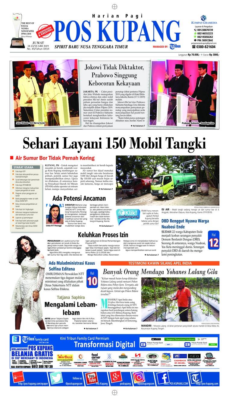 Koran Digital Pos Kupang 18 Januari 2019