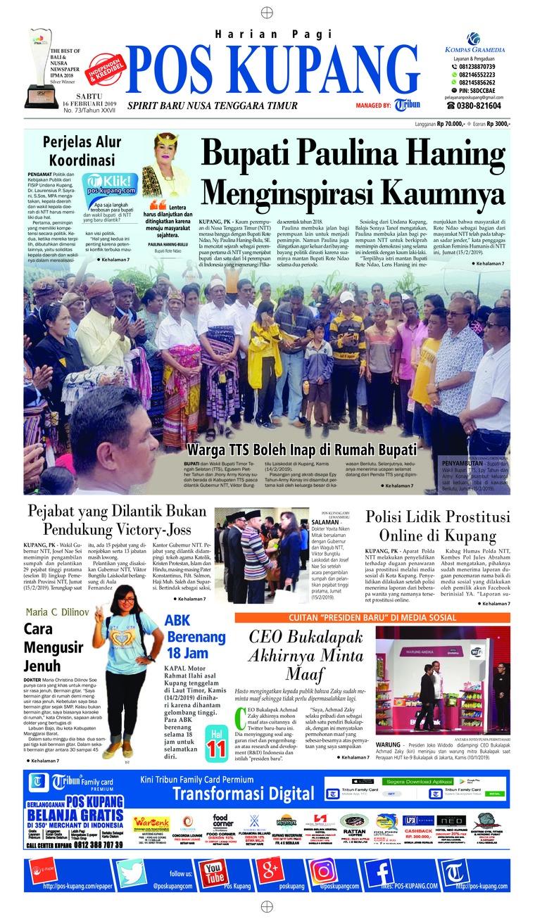 Pos Kupang Digital Newspaper 16 February 2019