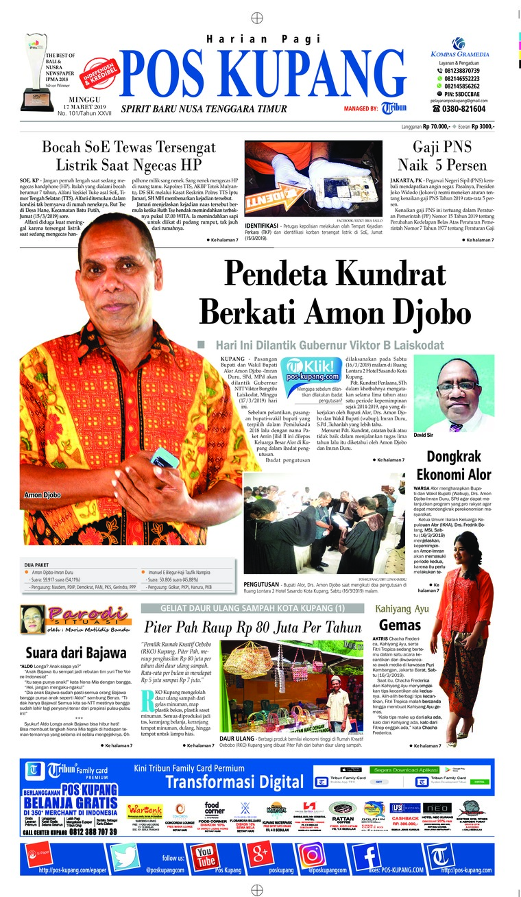 Pos Kupang Digital Newspaper 17 March 2019