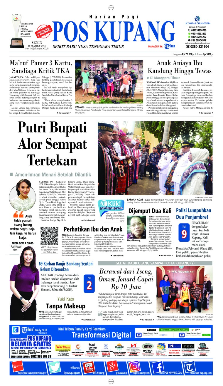 Pos Kupang Digital Newspaper 18 March 2019