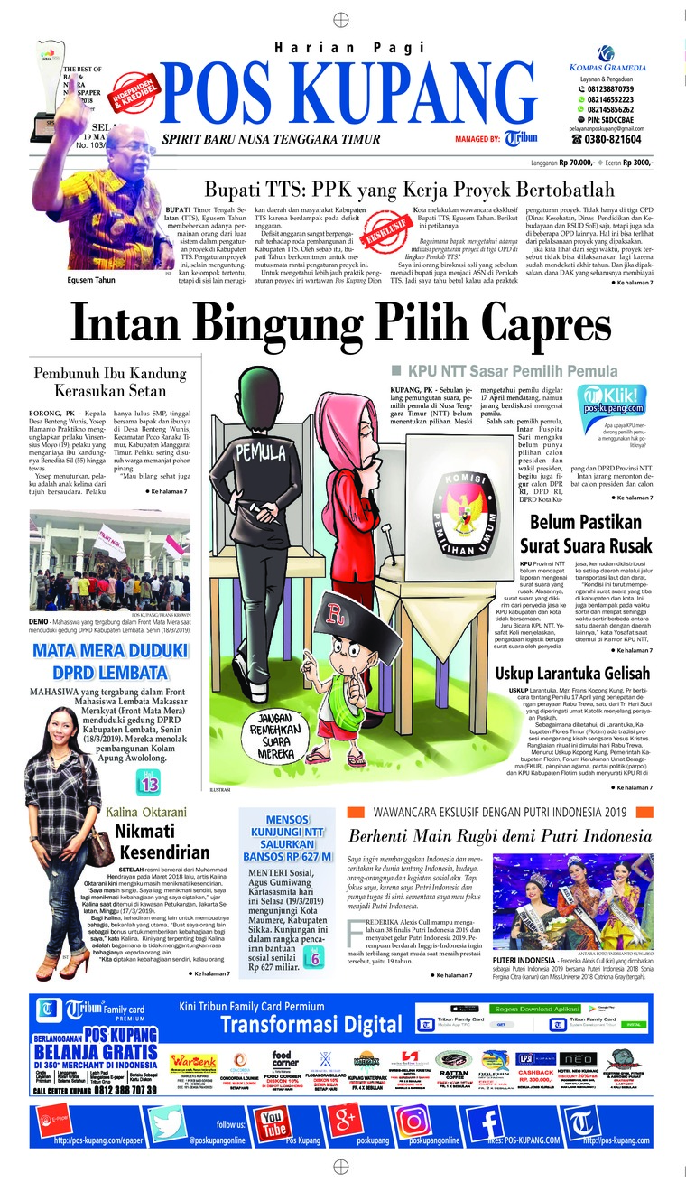 Pos Kupang Digital Newspaper 19 March 2019