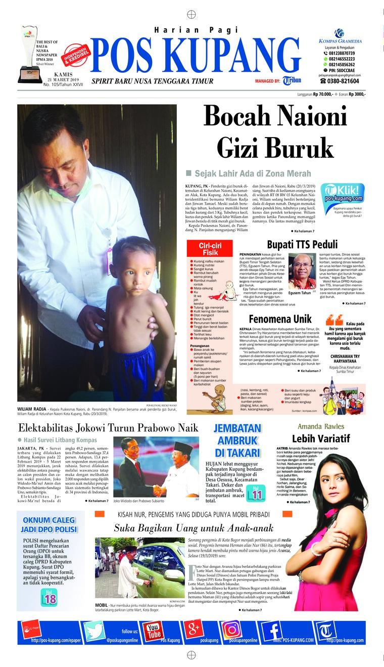 Pos Kupang Digital Newspaper 21 March 2019