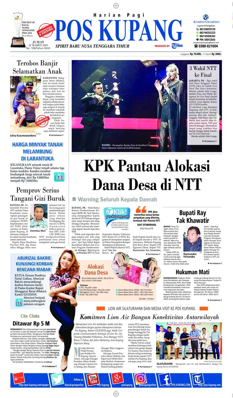 Koran Digital Pos Kupang 22 Maret 2019