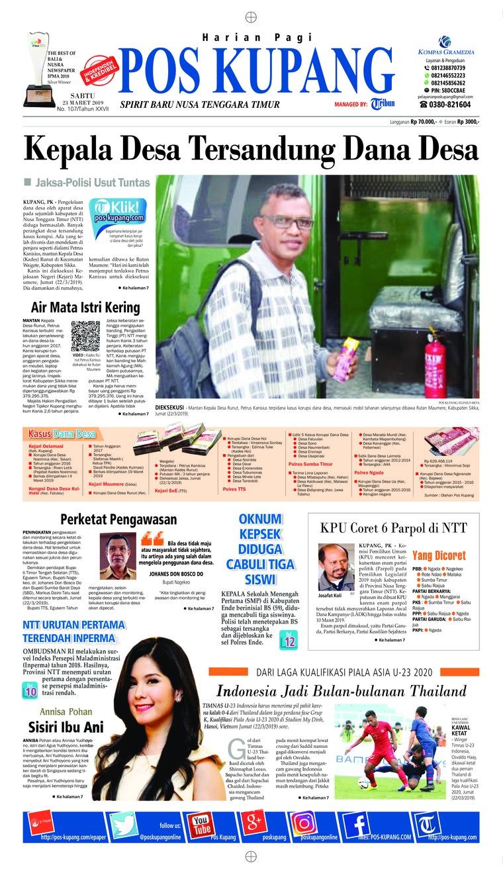 Pos Kupang Digital Newspaper 23 March 2019
