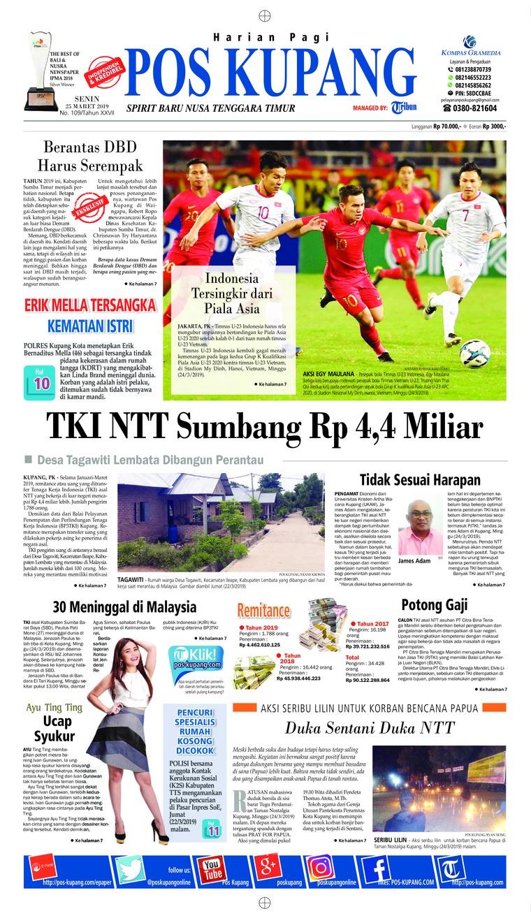 Pos Kupang Digital Newspaper 25 March 2019