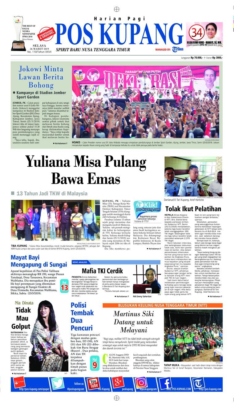 Pos Kupang Digital Newspaper 26 March 2019