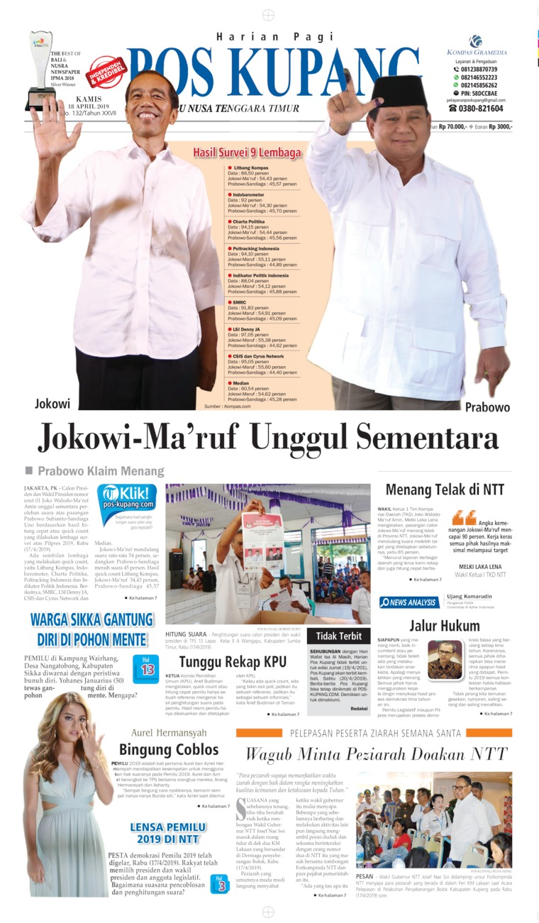 Koran Digital Pos Kupang 18 April 2019