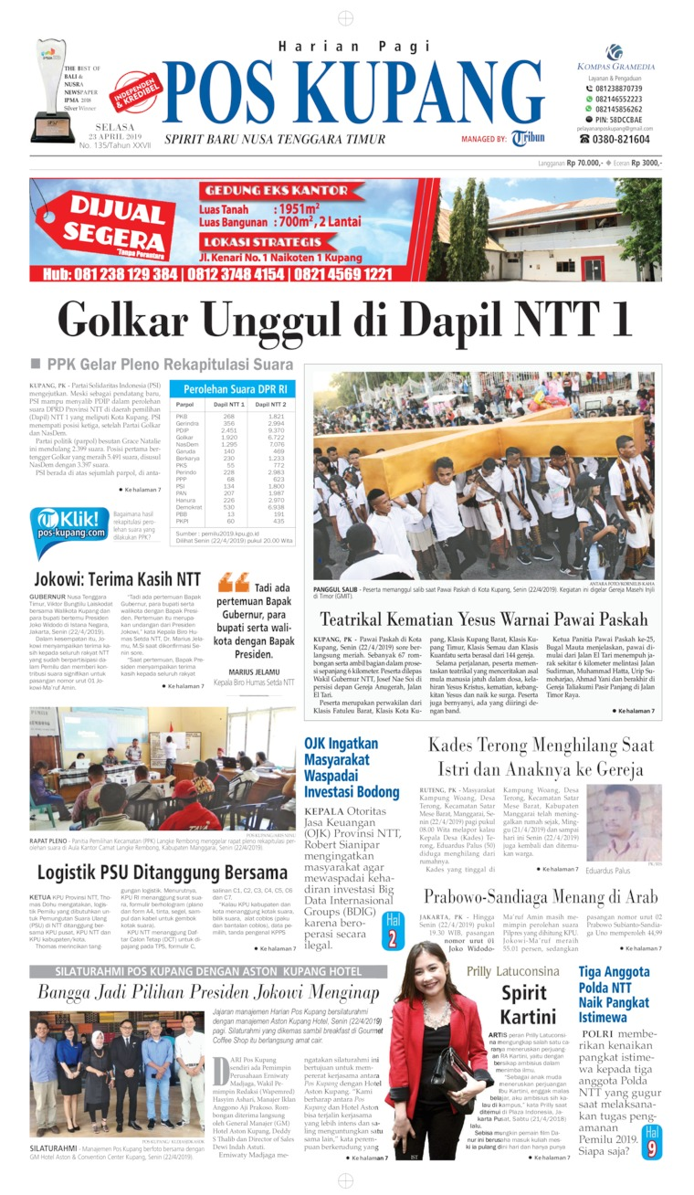 Pos Kupang Digital Newspaper 23 April 2019