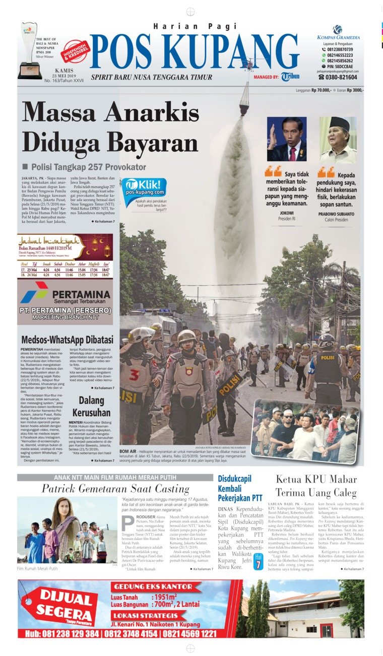 Pos Kupang Digital Newspaper 23 May 2019