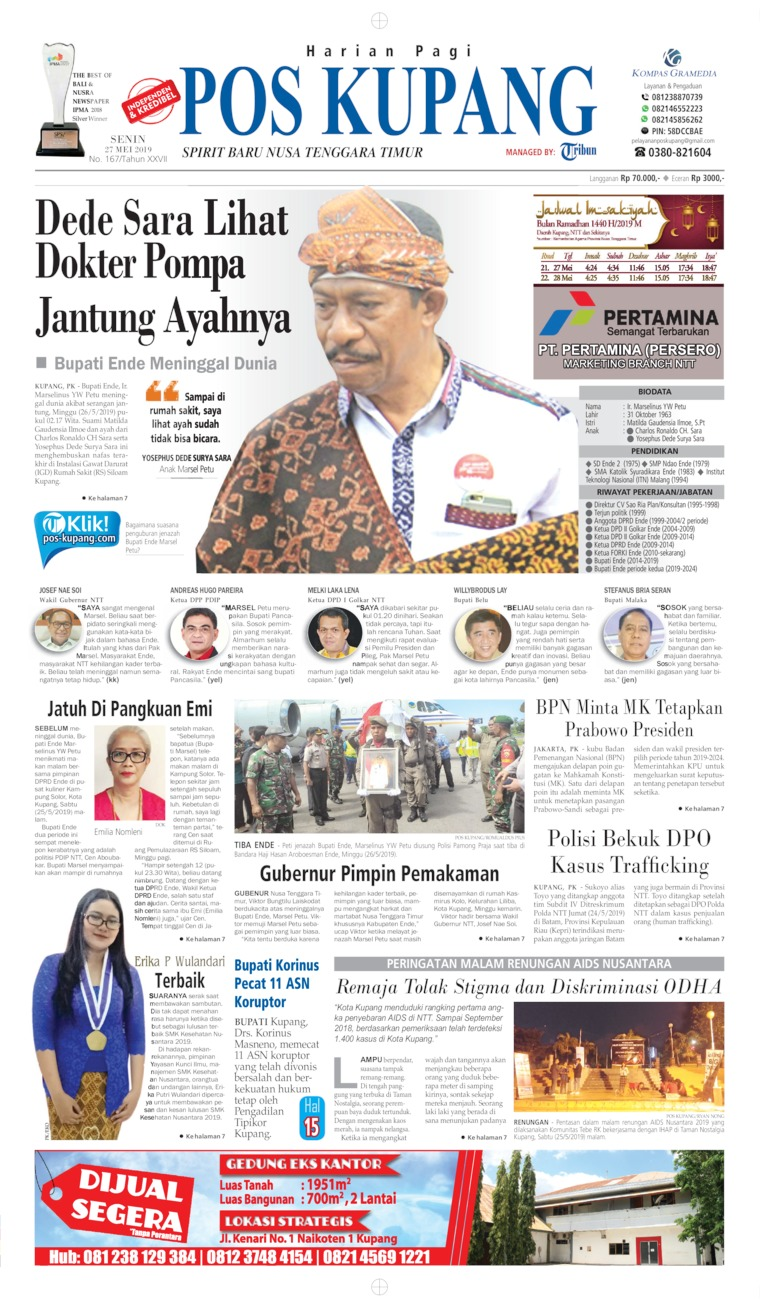 Koran Digital Pos Kupang 27 Mei 2019