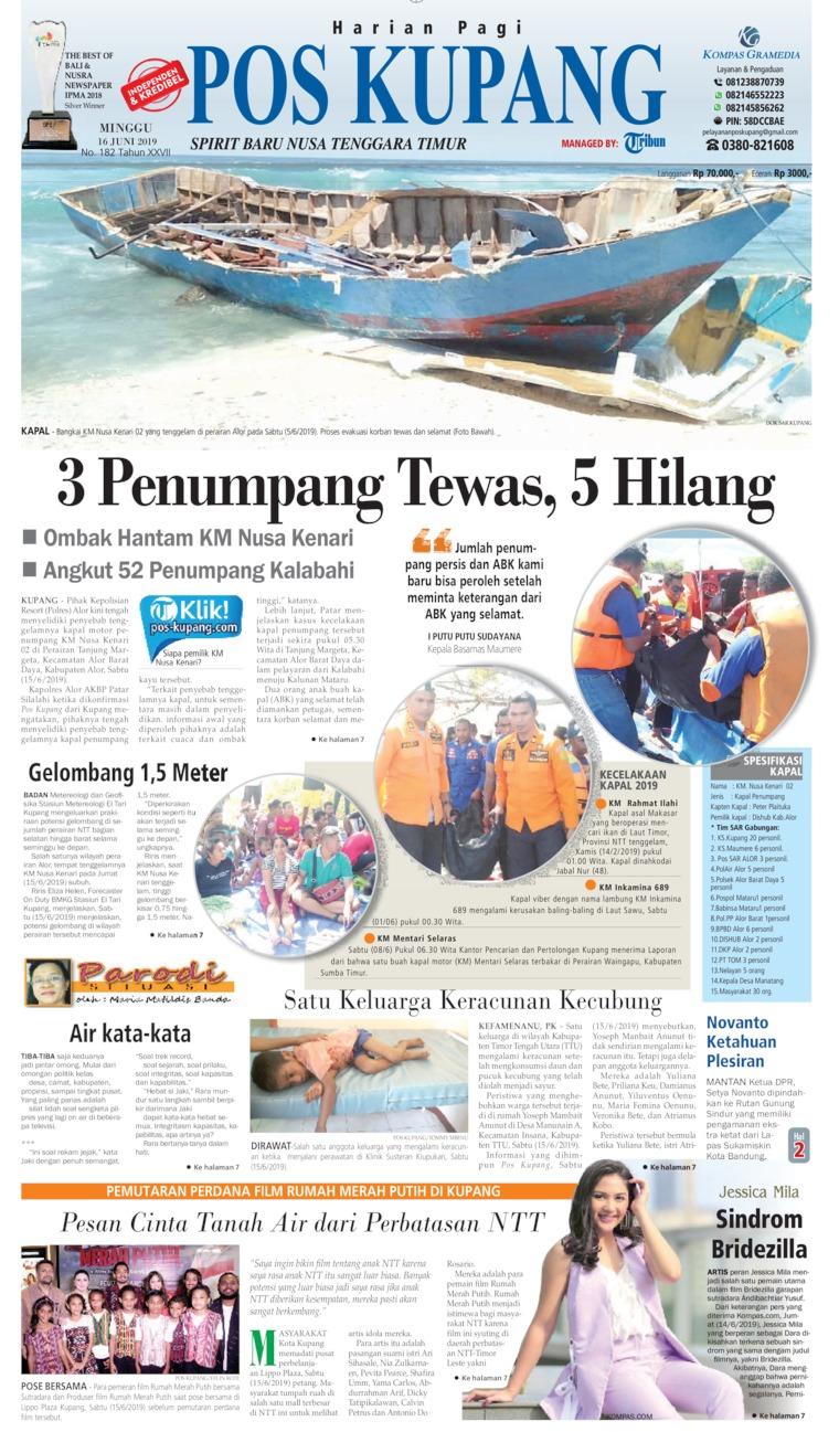 Koran Digital Pos Kupang 16 Juni 2019