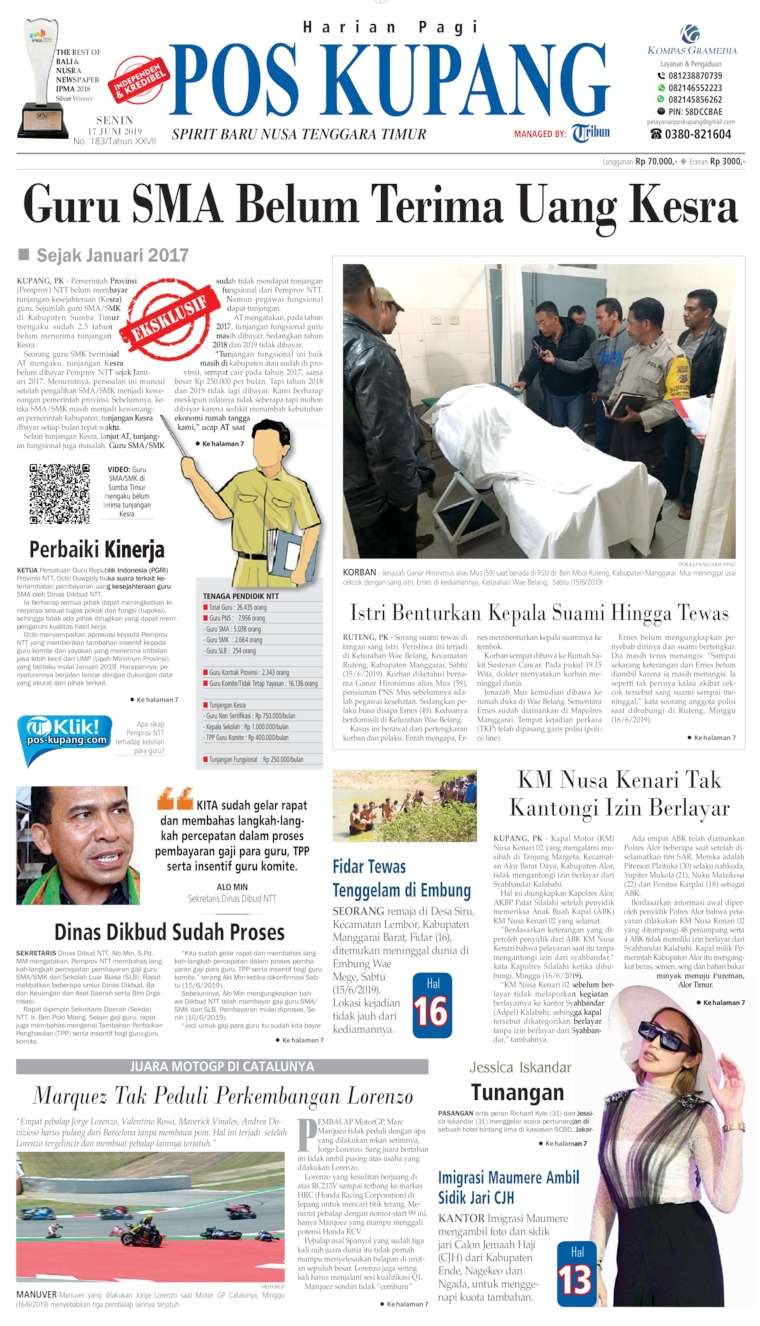 Koran Digital Pos Kupang 17 Juni 2019