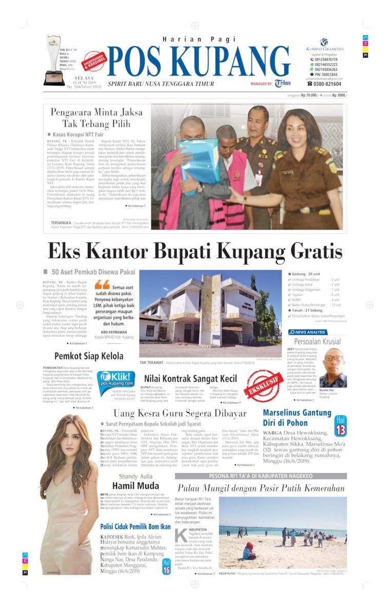 Pos Kupang Digital Newspaper 18 June 2019