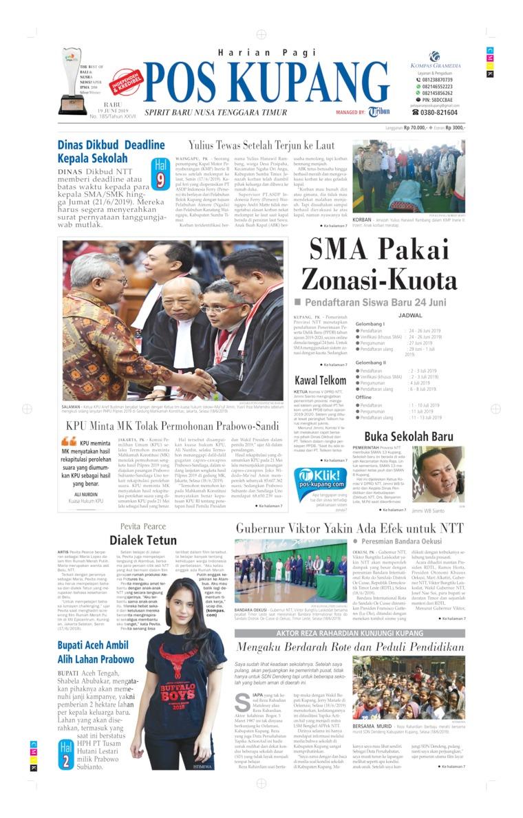 Pos Kupang Digital Newspaper 19 June 2019