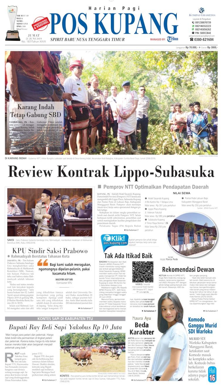 Koran Digital Pos Kupang 21 Juni 2019