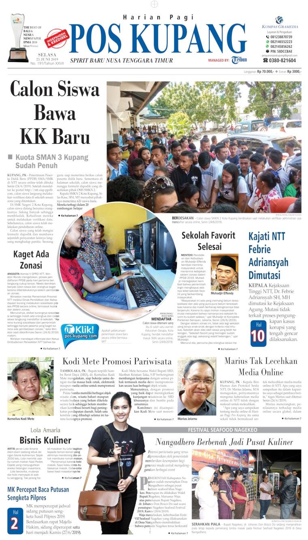 Koran Digital Pos Kupang 25 Juni 2019