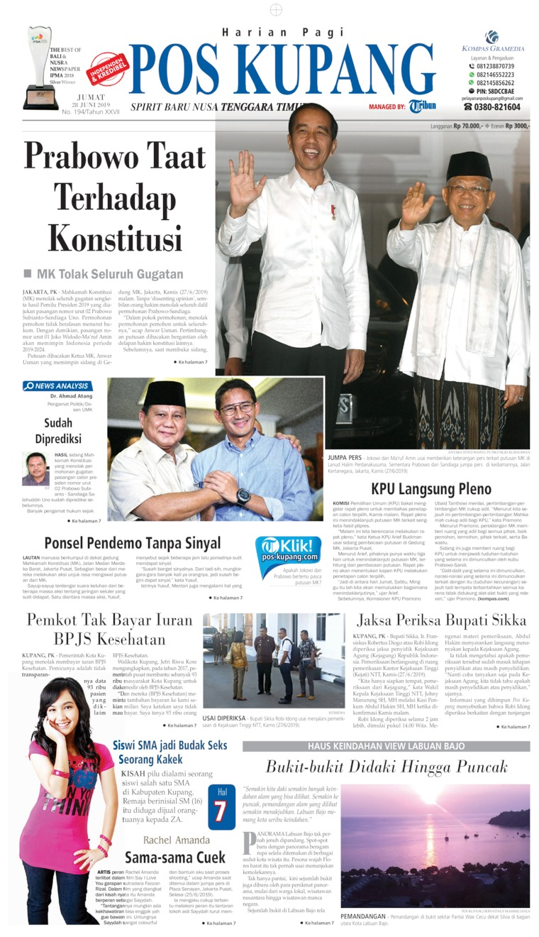 Koran Digital Pos Kupang 28 Juni 2019