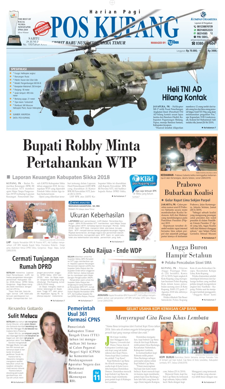Koran Digital Pos Kupang 29 Juni 2019