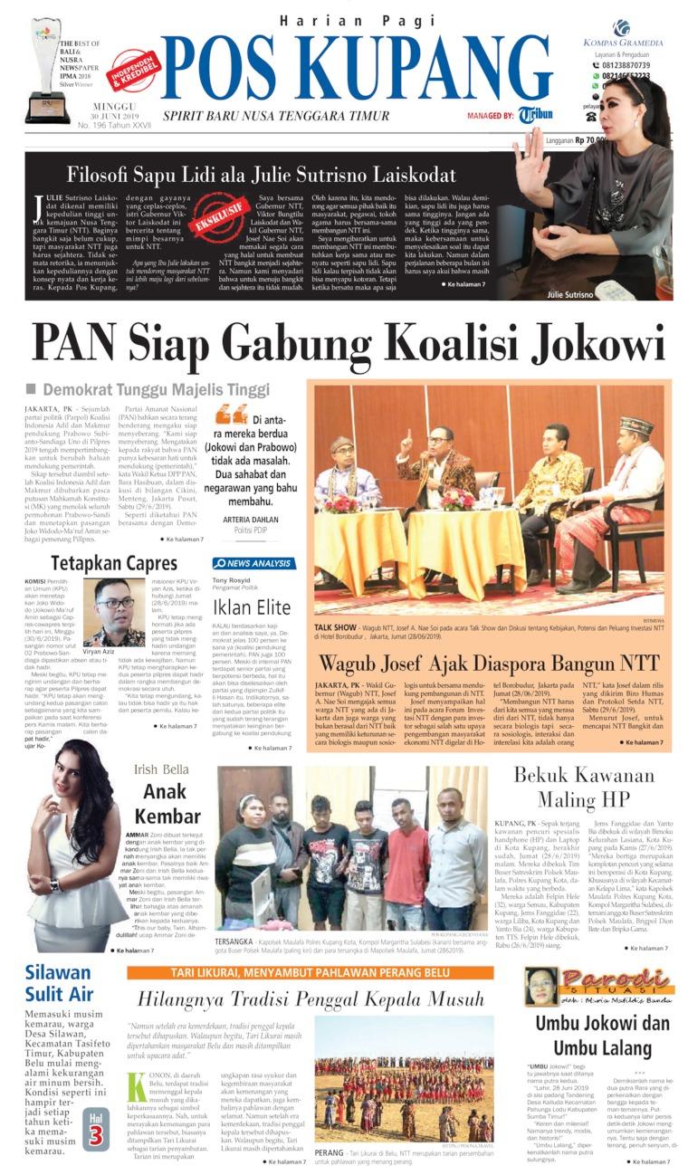 Koran Digital Pos Kupang 30 Juni 2019