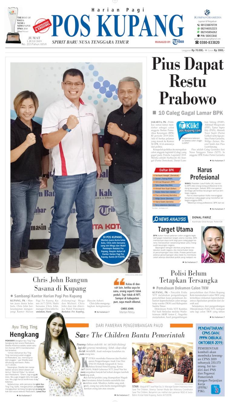 Koran Digital Pos Kupang 05 Juli 2019