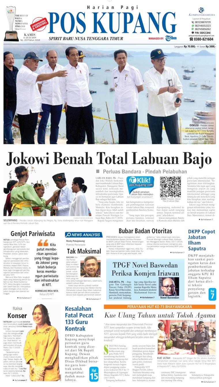 Koran Digital Pos Kupang 11 Juli 2019