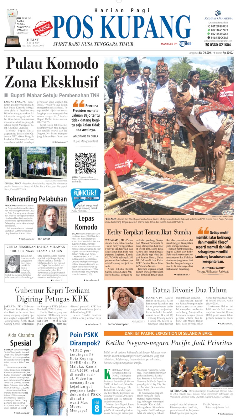 Koran Digital Pos Kupang 12 Juli 2019