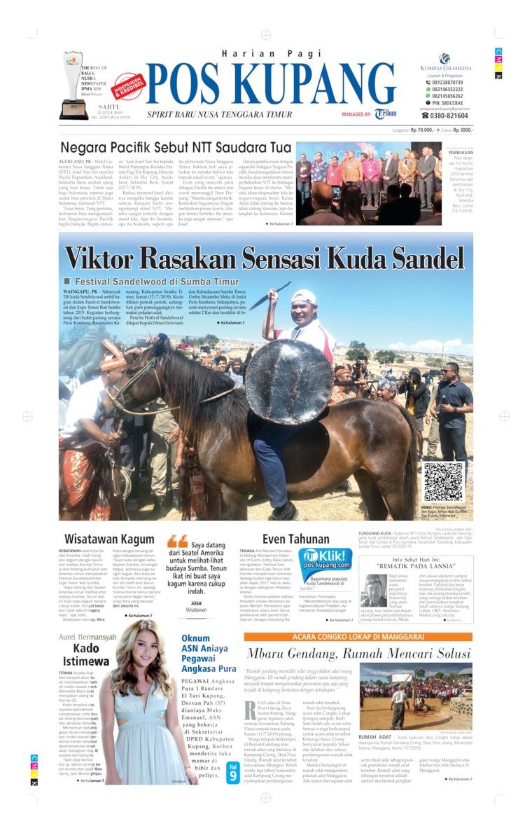 Koran Digital Pos Kupang 13 Juli 2019