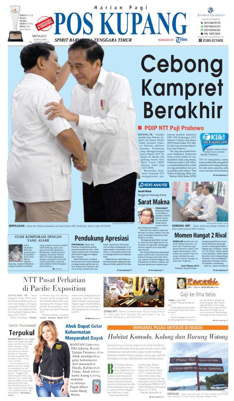 Pos Kupang Digital Newspaper 14 July 2019