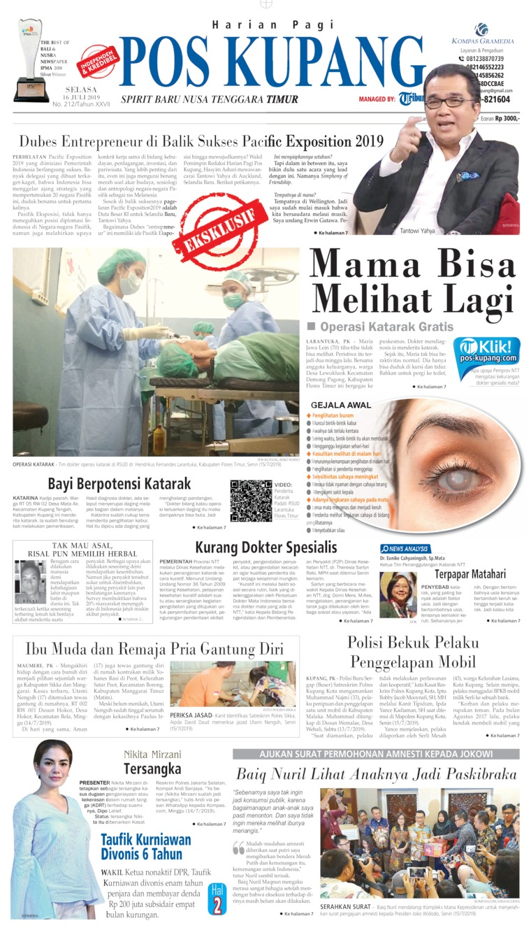 Pos Kupang Digital Newspaper 16 July 2019