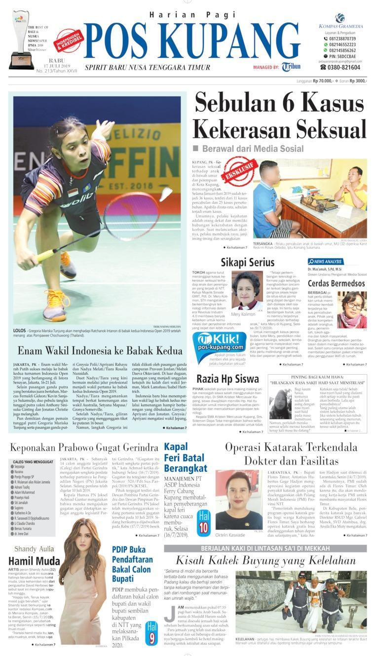 Pos Kupang Digital Newspaper 17 July 2019