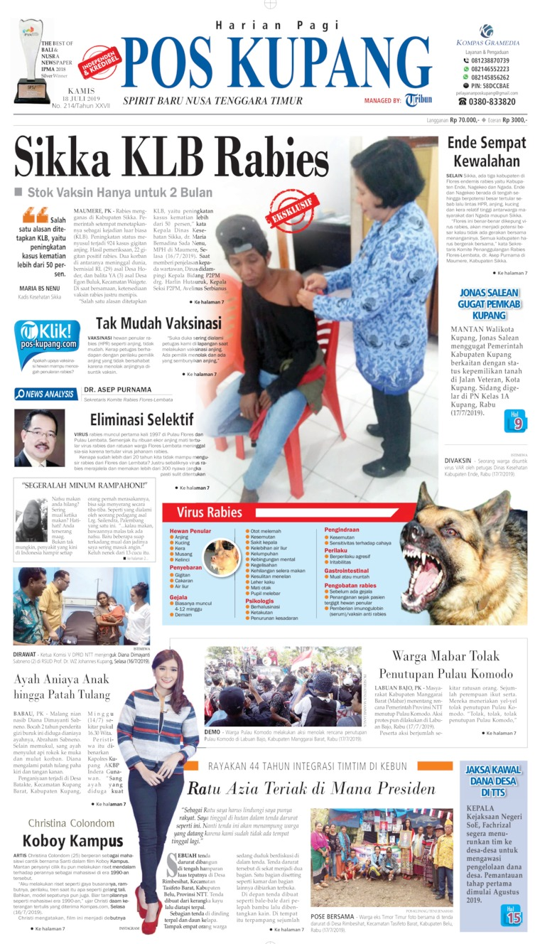 Pos Kupang Digital Newspaper 18 July 2019