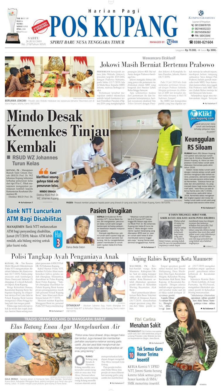 Pos Kupang Digital Newspaper 20 July 2019