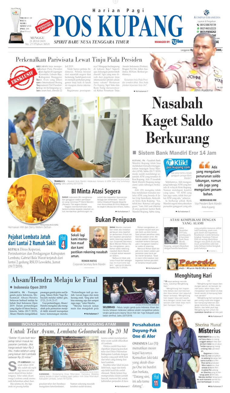 Koran Digital Pos Kupang 21 Juli 2019